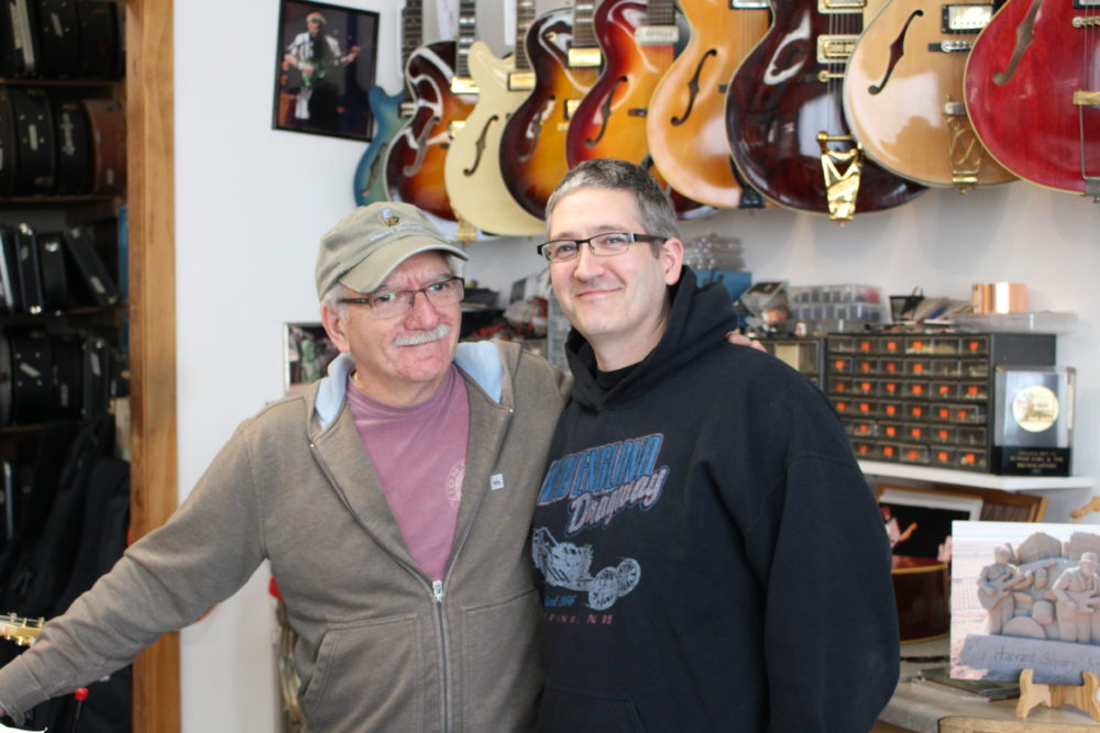Jim and Jon Mouradian in the store's main workshop