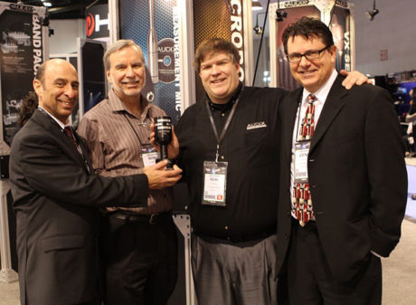 Audix's Cliff Castle, Bob Brennan and Rob Schnell of Reflex Marketing, and Gene Houk of Audix