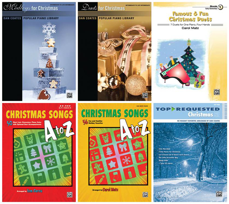 Famous & Fun Christmas Duets (Books 1, 2, and 3) from Alfred Music
