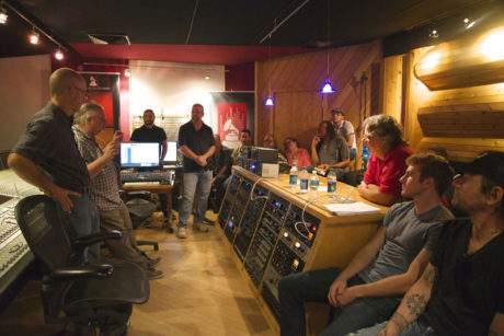 """Recording engineers gathered for """"In Studio: 500 Series Module Shootout,"""" held at Morrisound Recording in Tampa, Florida, presented by The Recording Academy® Florida Chapter and the Producers & Engineers Wing® and sponsored by GC Pro."""